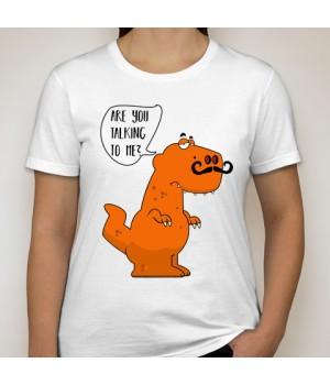 Тениска с щампа  R U talking