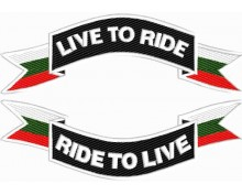 Live to Ride embroidered patch