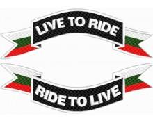 Нашивка Live to Ride