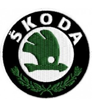 Skoda embroidered patch
