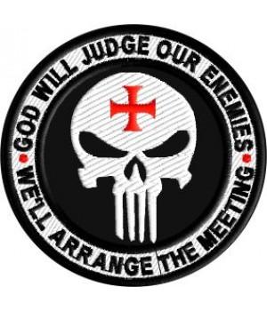 God will judge our enemies embroidered patch
