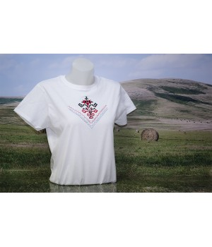 Lady T-shirt with embroidery