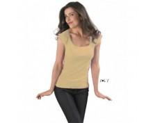 Melrose women's cap sleeve t-shirt, sand color