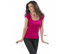 Дамска, цикламена тениска Sol's с къс ръкав